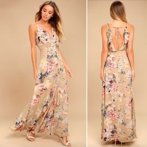 NWT Lulu's Something Just Like This Floral Maxi